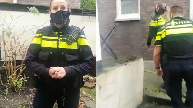 Politie komt aan de deur voor niet dragen mondkapje, man wil lekker discussiëren...