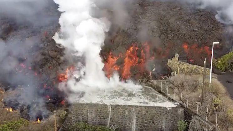 Lavastroom niet goed voor je zwembad op La Palma