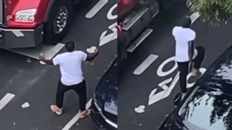 Toeteren levert vrachtwagenchauffeur in New York een dansje op