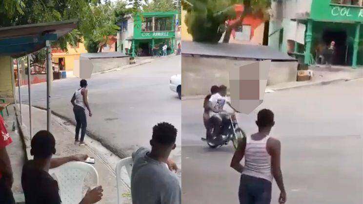 Koppel heeft weinig van toeschouwers op straat