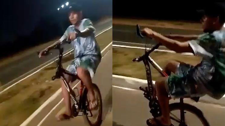 Op één wiel fietsen ging best lang goed...