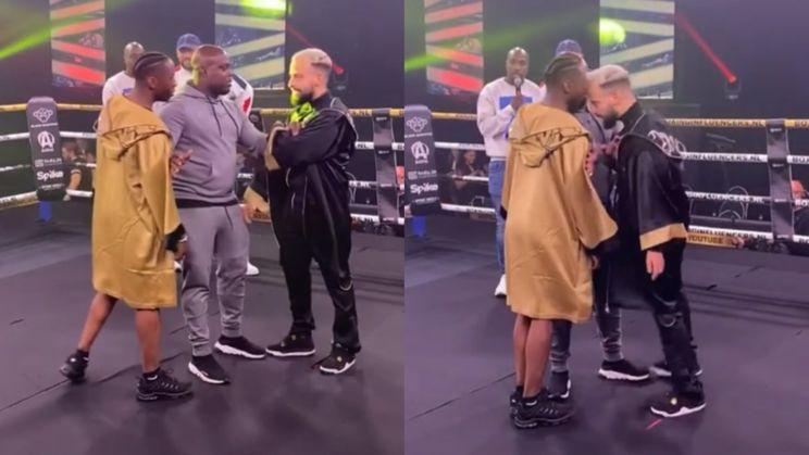 Boxing Influencers staredown tussen Ta Joela en Toumi Wail liep een beetje uit de hand