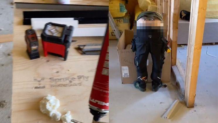 Je kunt echt bouwvakkersdecolleté van collega niet opvullen met purschuim