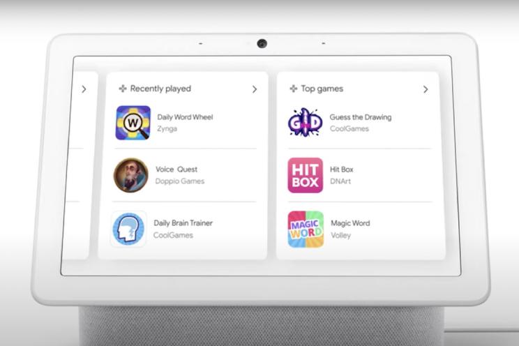 Google smart displays krijgt krijgen nieuwe Game Lobby
