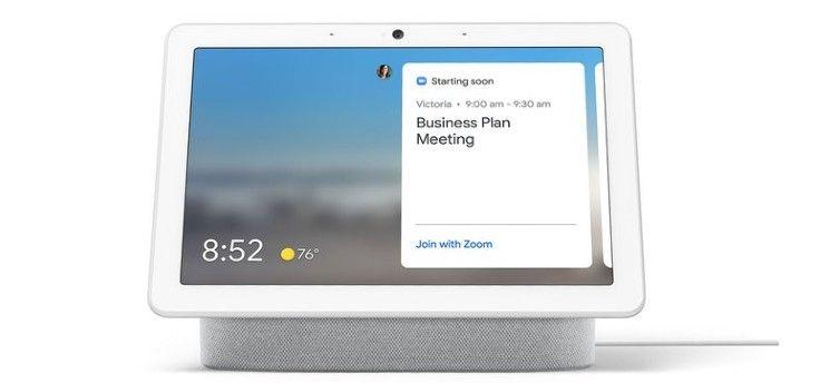 Smart displays krijgen ondersteuning voor videogespreksdienst Zoom