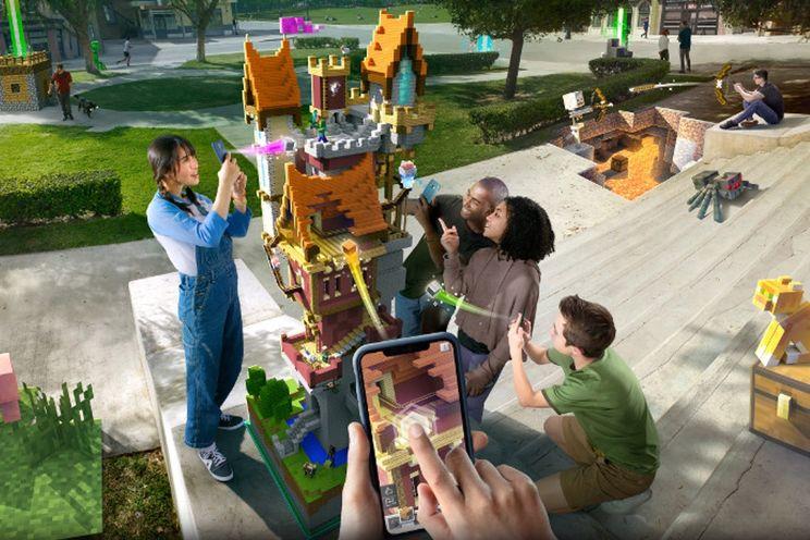 Minecraft Earth met Augmented Reality arriveert deze zomer