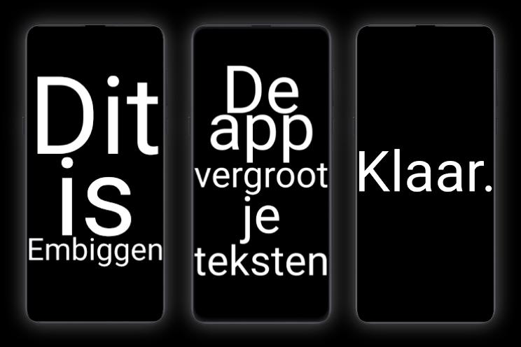 App van de week: deze gratis app plaatst reusachtige tekst op je scherm