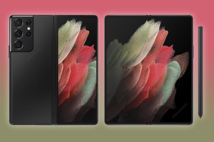 'Is dit de Samsung Galaxy Z Fold 3?'
