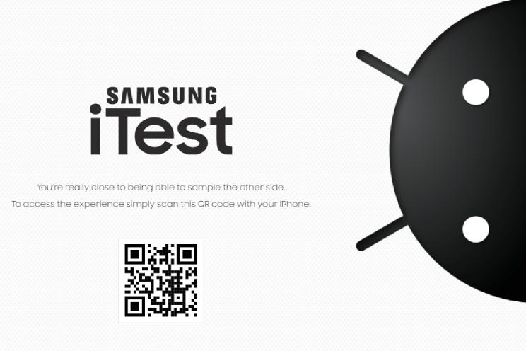 Samsung laat iPhone-gebruikers Android testen in de 'iTest'