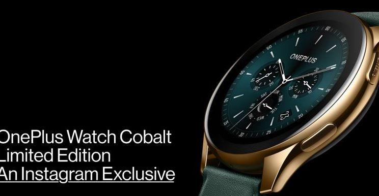 OnePlus Watch Cobalt Limited Edition wordt op 7 juni aangekondigd