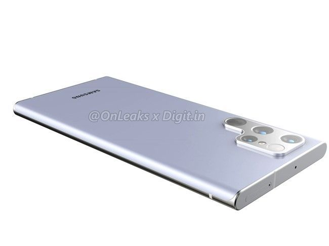 Dummy van Samsung Galaxy S22 Ultra gelekt: geen ronde hoeken