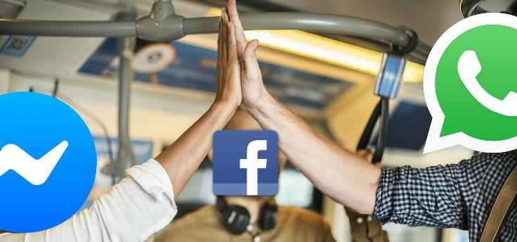 'Facebooks samensmelting van WhatsApp en Messenger gaat strijd aan met iMessage'