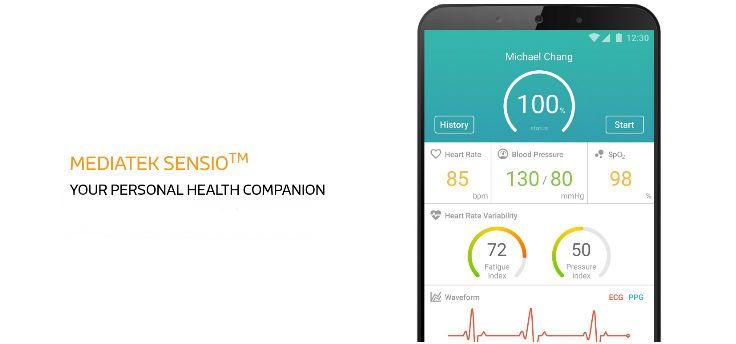 Sensio, health-module van MediaTek voor smartphones