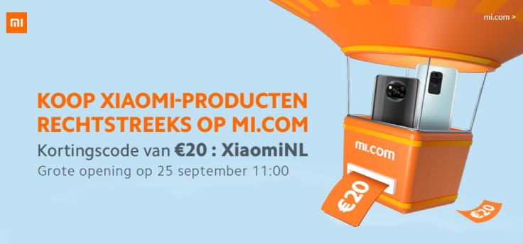 Xiaomi opent officiële Nederlandse webshop op 25 september