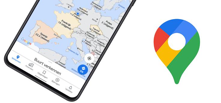 Google Maps toont aantal coronabesmettingen op kaart