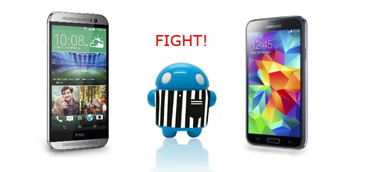 Samsung Galaxy S5 vs. HTC One M8: Fight!
