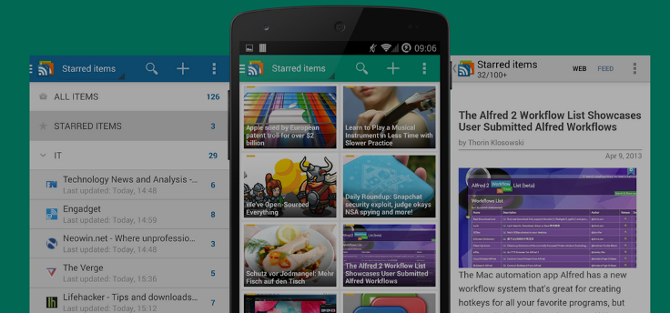 gReader: nieuws en RSS-feeds in Android 5.0-stijl