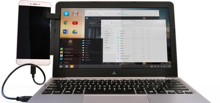 De 99 dollar kostende Superbook verandert je Android-telefoon in een laptop