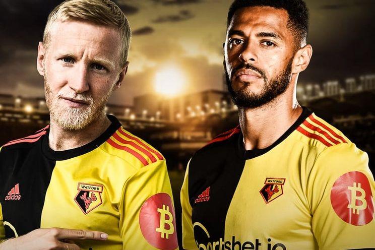 Voetbalclub Watford speelt voortaan met bitcoin logo op shirt