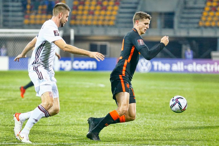 Nederland wint na matige wedstrijd van Letland